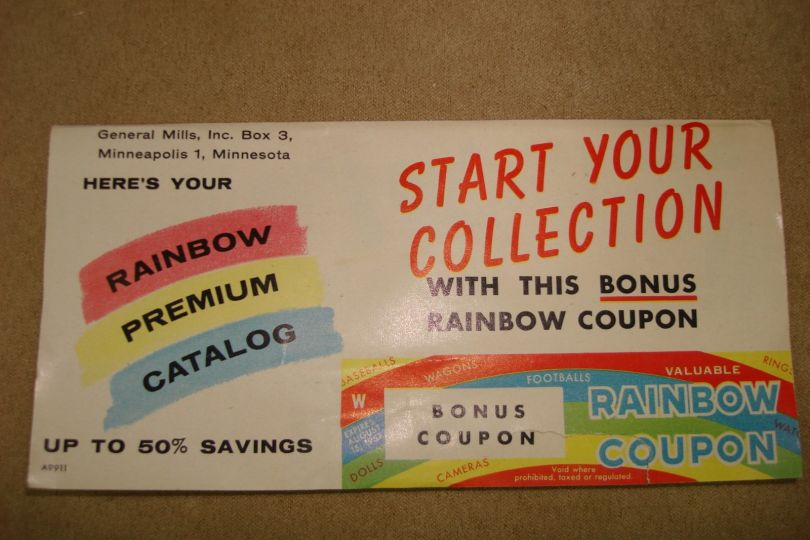 VINTAGE 1950\u0027S GENERAL MILLS BONUS RAINBOW COUPON BOOKLET! SEND AWAY