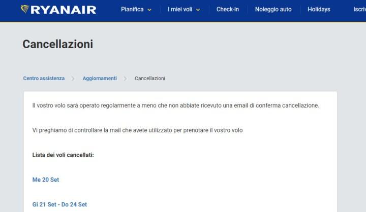 Cancellazione voli RyanAir: i suggerimenti di Federconsumatori Sicilia