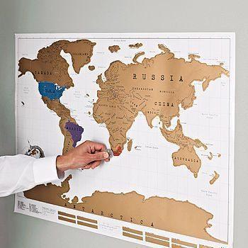 Mappe geografiche, arredare casa - cartina mondo