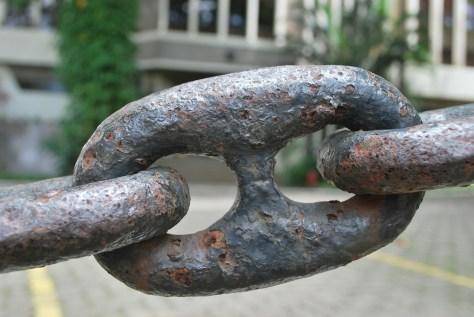 Eslabón de cadena.