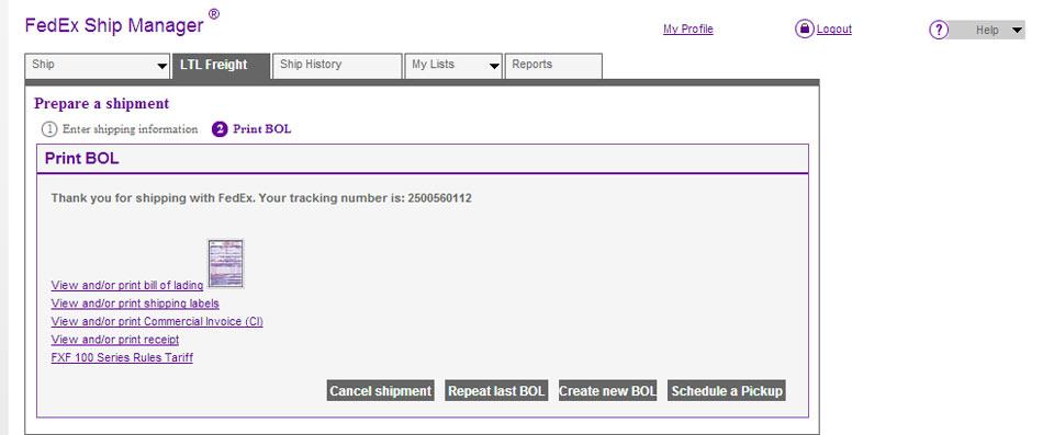 FedEx Ship Manager at fedexca \u2013 LTL Freight Shipping
