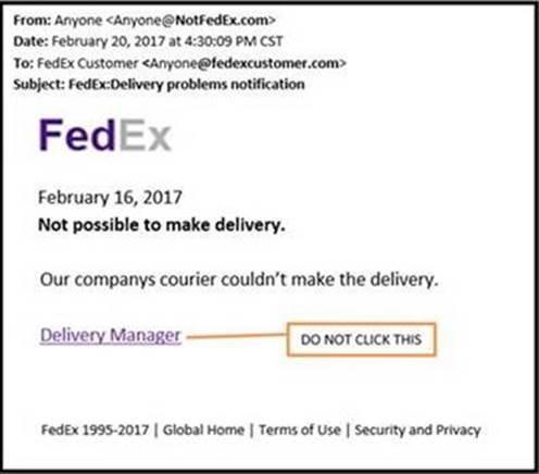 FedEx Fraudulent Email Alert - valid emails