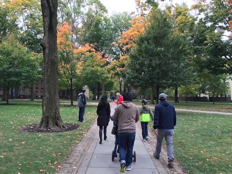 walk through princeton fall foliage