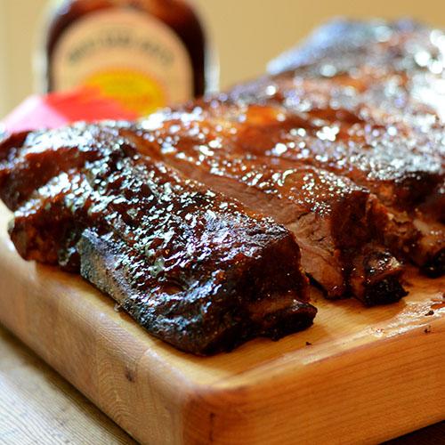 Ribs, Farmland/Smithfield, pork, dinner, entree, BBQ, sauce