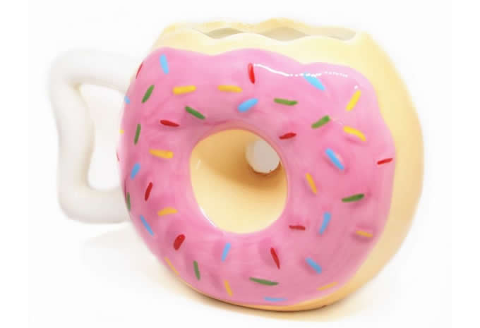 Doughnut Ceramic Mug Coffee Tea Water Cup Feelgift