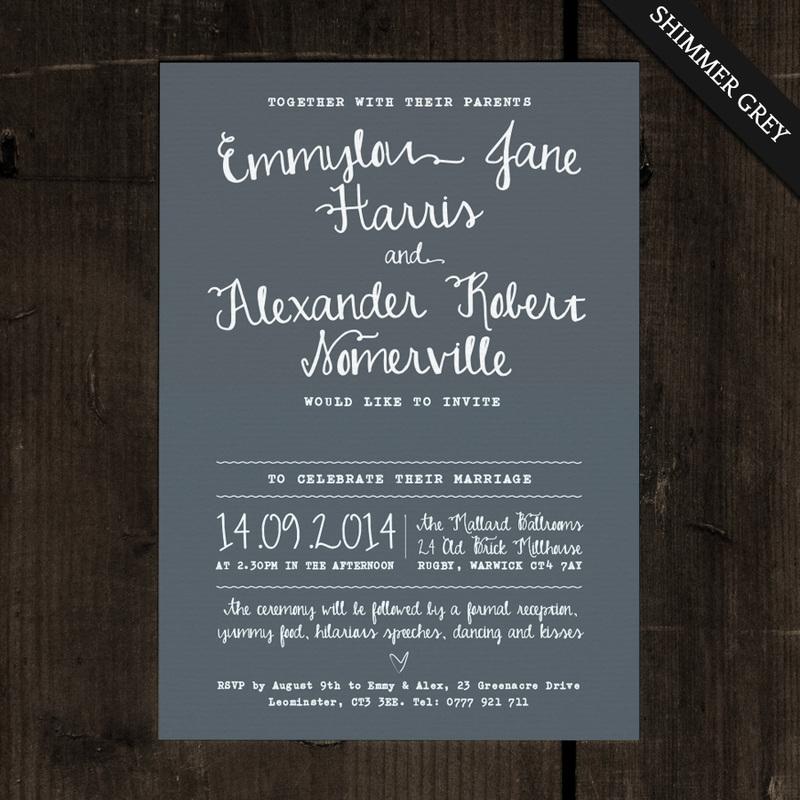 White Calligraphy Wedding Invitation - Feel Good Wedding Invitations