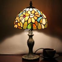 8-inch Tiffany Floral Pattern Stained Glass Table Lamp ...