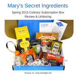 "<span class=""entry-title-primary"">There is Something About Mary's Secret Ingredients Spring 2015</span> <span class=""entry-subtitle"">A Culinary Subscription Box Review and Unboxing</span>"