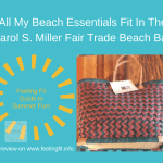 Your Beach Essentials Fit in a Carol S Miller Beach Bag #fairtrade