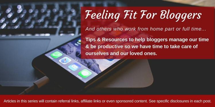 Feeling Fit For Bloggers Series on www.feelingfit.info