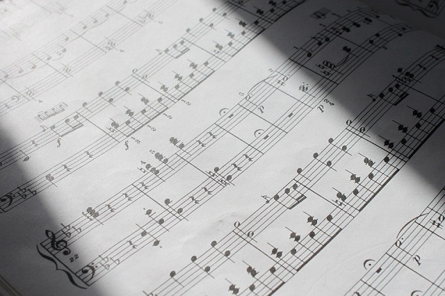 classical music notes written