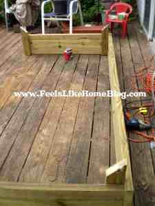building a raised garden bed almost done