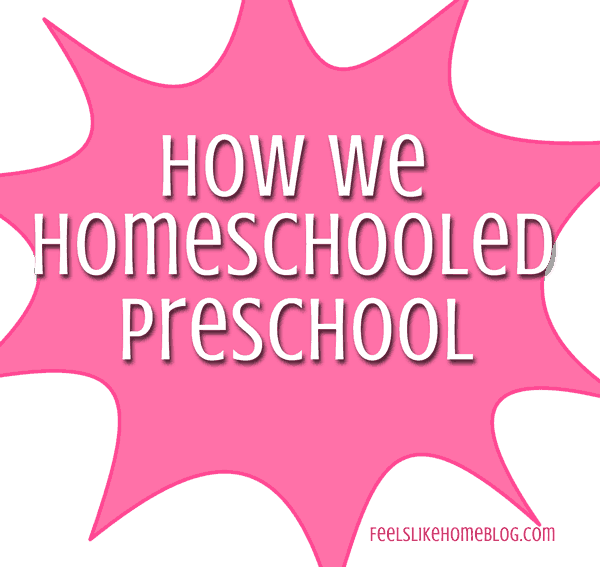 Homeschool preschool is easy and fun - and very inexpensive! Check out this post for lots of tips and resources for having fun with preschool right at home!