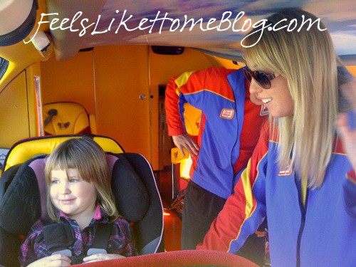 learning to wave in the Oscar Mayer Wienermobile