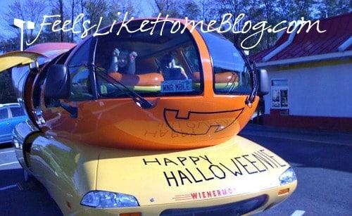 Happy Halloweenie from Oscar Mayer Wienermobile
