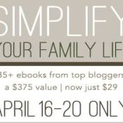 Simplify Your Family Life HUGE eBook Sale