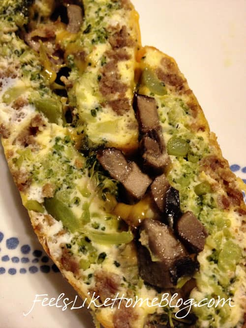 sausage broccoli mushroom omelet roll recipe