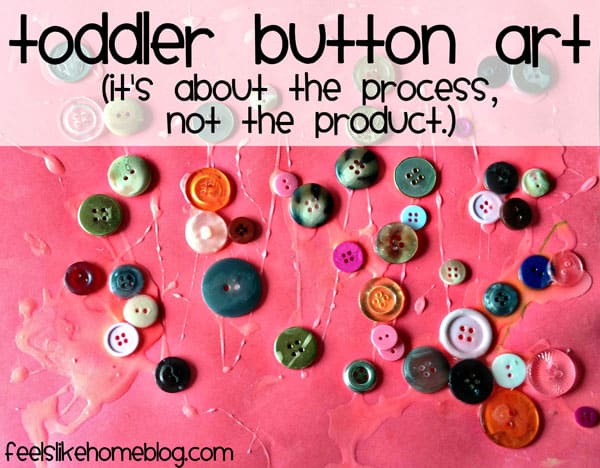 Toddler Button Art