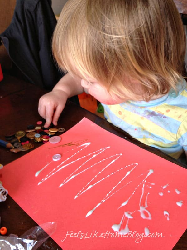 toddler button craft