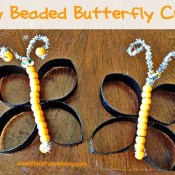 Easy Beaded Butterfly Craft
