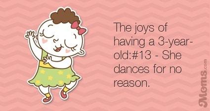 She dances for no reason.