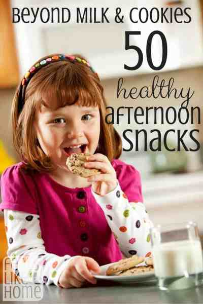Afternoon snacks can be healthy AND delicious. Here are 50 ideas to get you started!