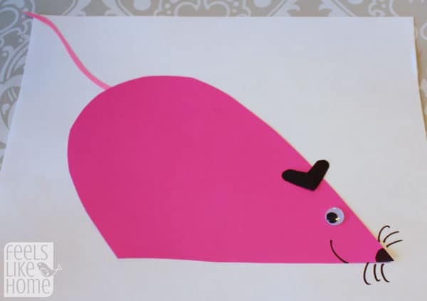 Valentine's Day heart-shaped animal crafts for kids mouse