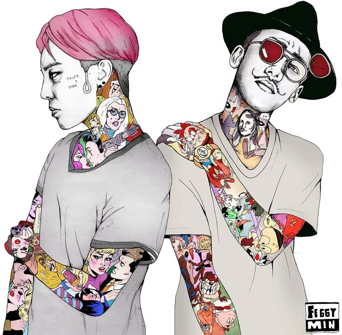 GD and KOHH YGE Pinterest Fanart and Illustrations - fashion design posters