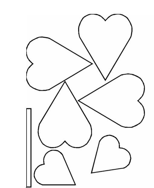 paper flower cut out templates - flower template