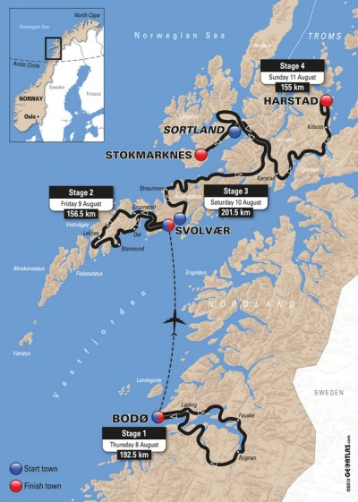 CyclingQuotes.com Route published for inaugural Arctic Race of Norway