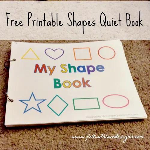 Pinterest Projects Free Printable No-Sew Shapes Quiet Book - Felt