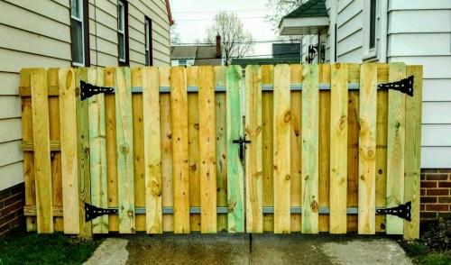Medium Of Picket Fence Gate