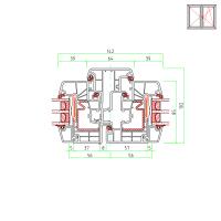 Detailzeichnungen Kunststofffenster IDEAL 8000