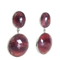 Natural Faceted Ruby Drop Earrings