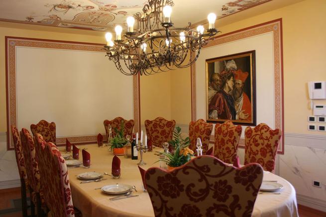 Luxus Ferienhaus Toskana 12 Personen Castiglion Fiorentino - esszimmer 12 personen