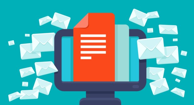 Vector email marketing concept - flat trendy icon - newsletter and subscription