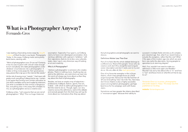 What Is A Photographer