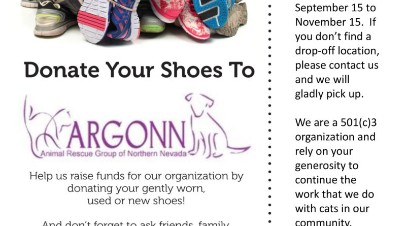 ARGONN launches shoe drive fundraiser to raise money for spaying and