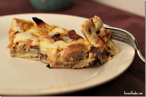 caramelized onion and sausage frittata (5)