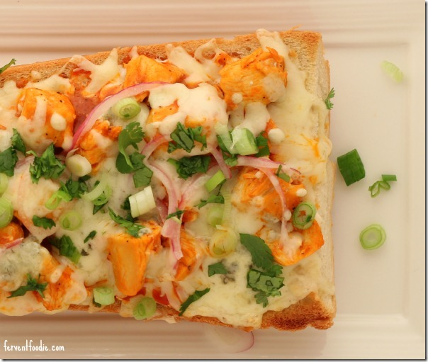 buffalo chicken french bread pizza 3