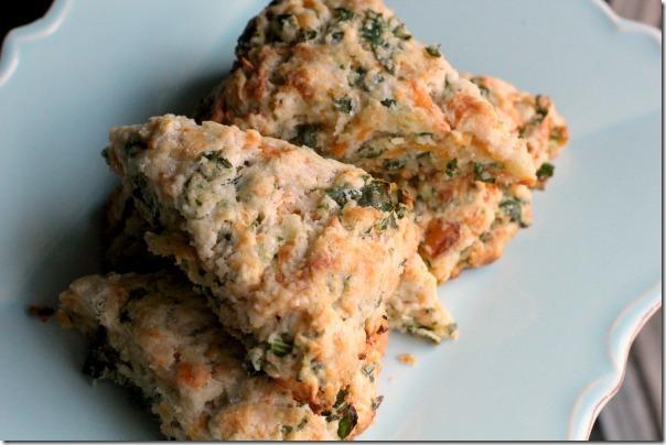 Cheddar-Kale Scones 5