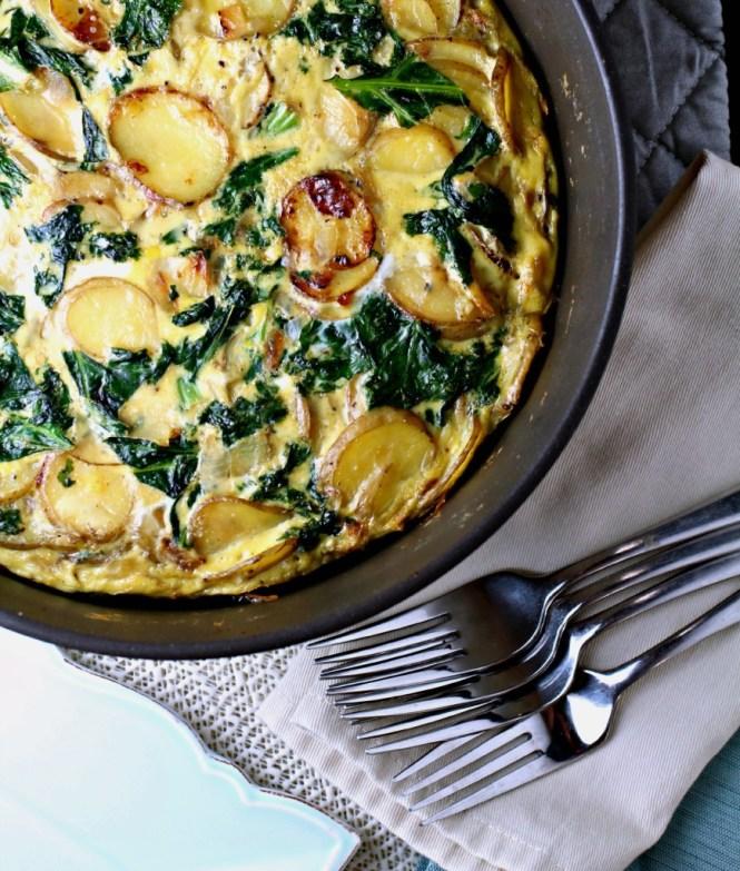 Kale & Onion Potato Pie
