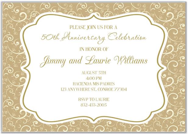 50th Anniversary Invitations Misc Occasions