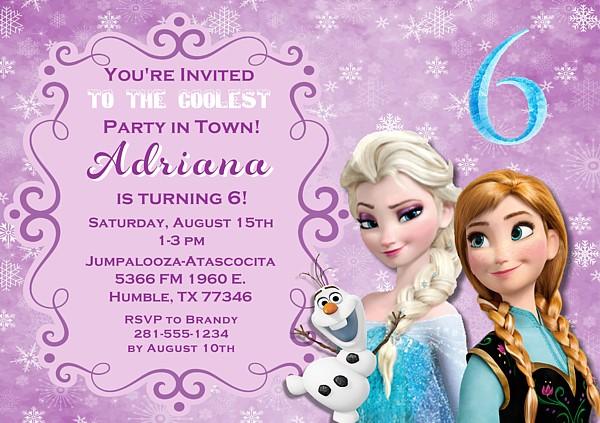 Frozen Birthday Party Invitations Disney Kids Birthday