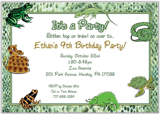 Reptile Birthday Invitations Printable Free Yamsixteen
