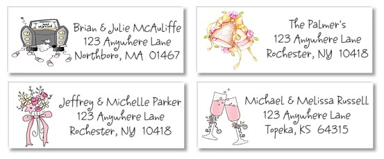 Bridal Shower Return Address Labels