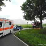 Verkehrsunfall eingeklemmte Person Lembrucher Str. 23.07.16 02