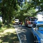 Verkehrsunfall eingeklemmte Person Voerdener Str. Hinnenkamp 18.08.16 02
