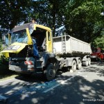 Verkehrsunfall eingeklemmte Person Voerdener Str. Hinnenkamp 18.08.16 14
