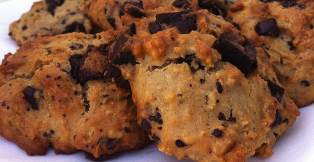 Cookies beurre de cacahu te et chocolat recette de cookies feuille de choux - Cookies beurre de cacahuete ...